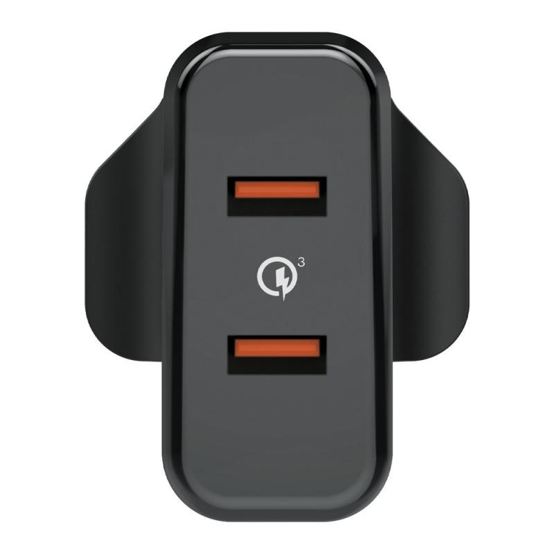 Verbatim 36W Dual Ports QC 3.0 USB Charger 充電器 66346