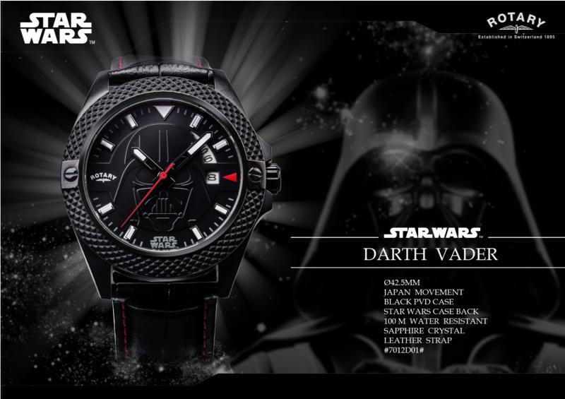 DARTH VADER WATCH PVD 黑色鋼殼 配 黑色皮帶