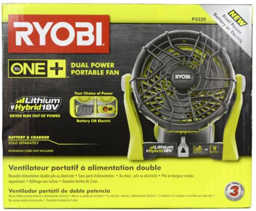 美國直送RYOBI 18V ONE +混合便攜式風扇(僅工具)