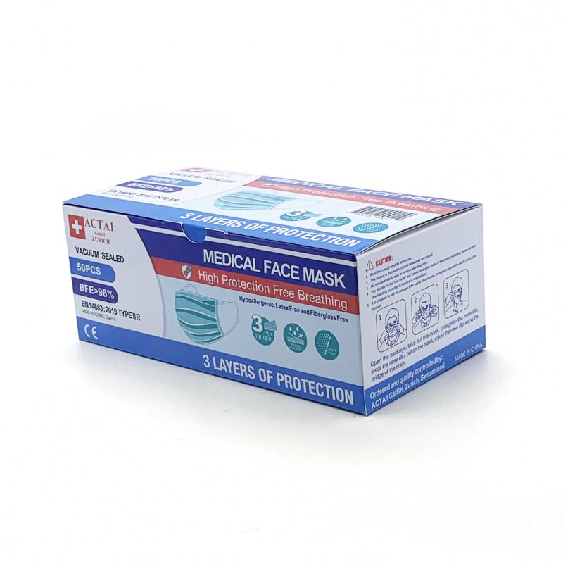 成人醫療級三層口罩 (滅菌真空包裝)