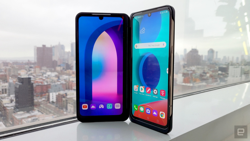 LG V60 ThinQ 5G 雙螢幕摺疊手機 6.8吋 連雙螢幕3顯示
