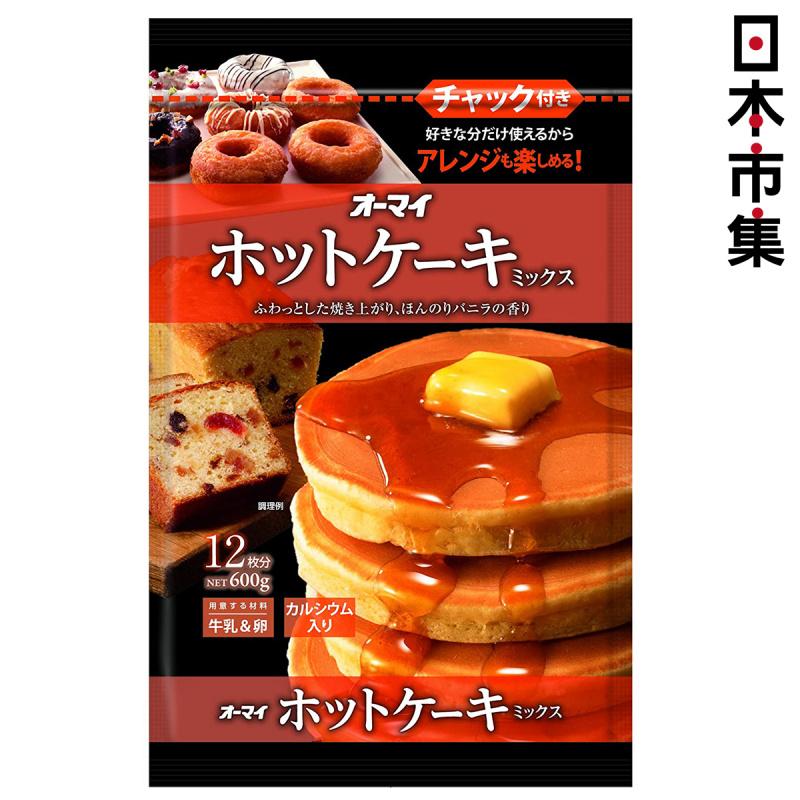 日版 日本製粉 熱香餅 預拌班戟粉 (香草雲呢拿味) 600g (可再封密實袋)【市集世界 - 日本市集】