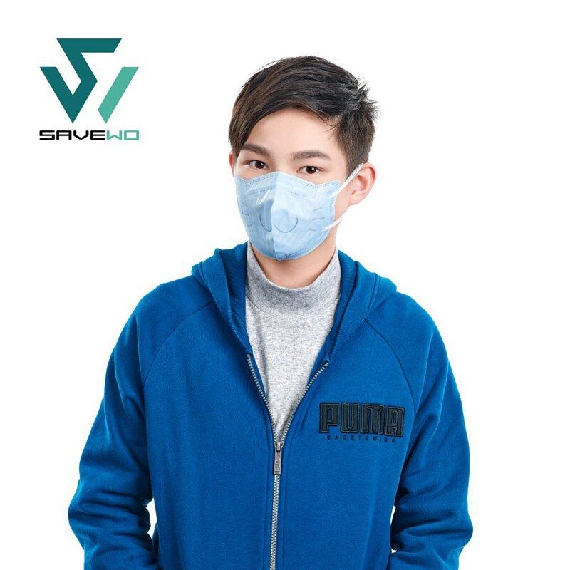 香港製 SAVEWO 3DMEOW FOR KIDS 救世立體喵兒童防護口罩 (30片獨立包裝/盒) [3色] (送口罩減壓器)