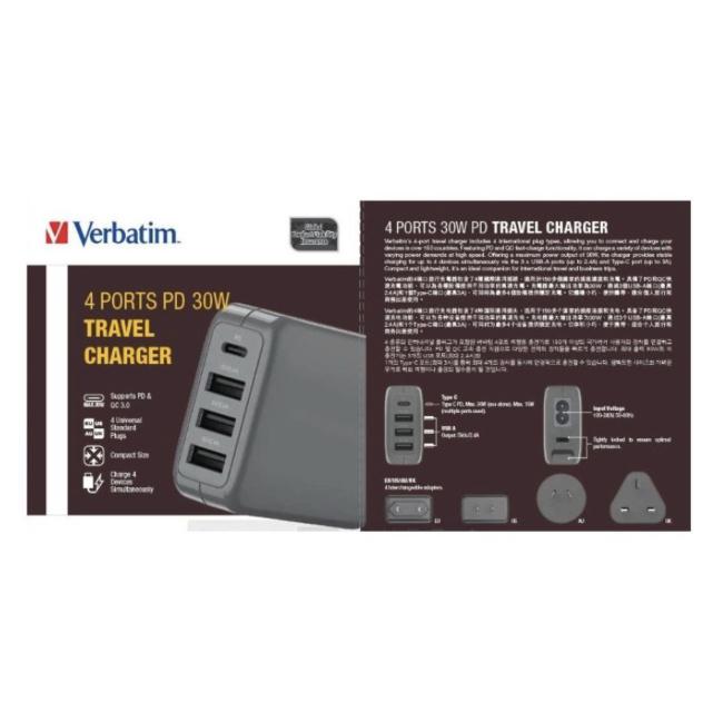 威寶 - 4 端口 30W 通用旅行充電器 PD QC 3.0 (2色)