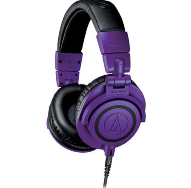 AUDIO TECHNICA - ATH-M50x 專業工作室監聽耳機紫色
