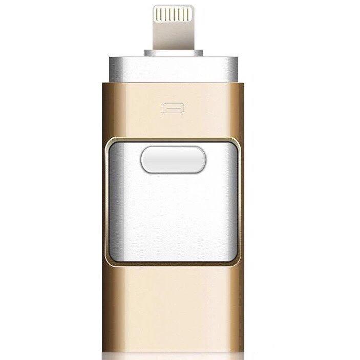 Flash Drive手機U盤32G兩用16g三合一蘋果OTG金屬U盤定制64GB優盤