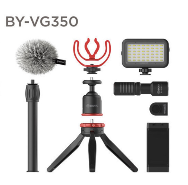 BOYA - BY-VG350 MM1+ 電容麥克風 多功能手機拍攝套裝 + 三脚架