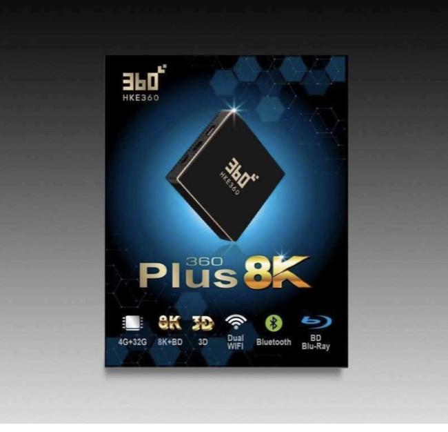 HKE360 360盒子 360 PLUS 四代 4 + 32GB Bluetooth 8K