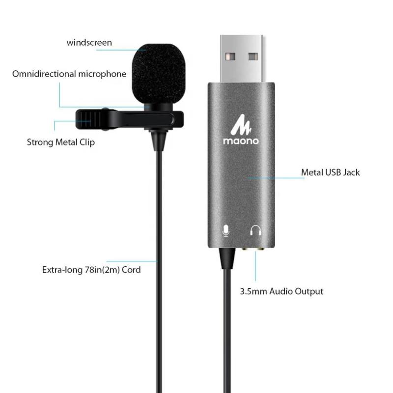 Maono AU-411 USB Lavalier Microphone