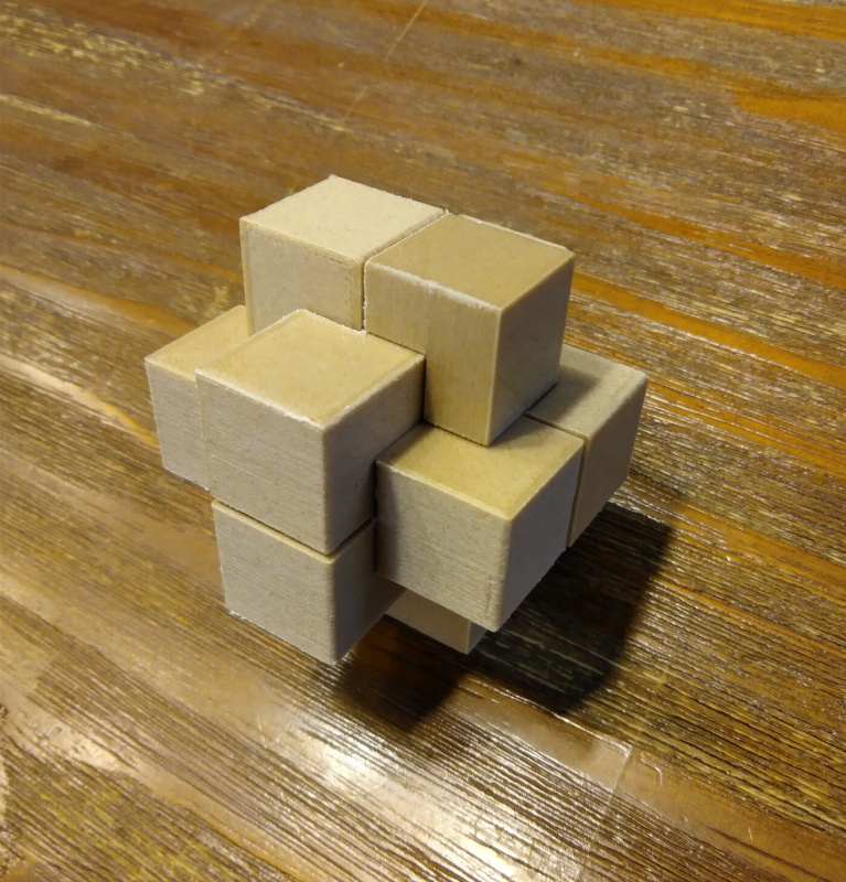 Puzzle, Bill Cutlers 305 Burr Puzzle