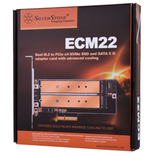 SST-ECM22 PCIe x4 NVMe SSD interface (B & M key)