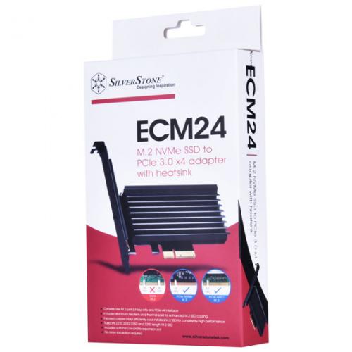 SST-ECM24 PCIe x4 NVMe SSD interface with heatsink (M key)