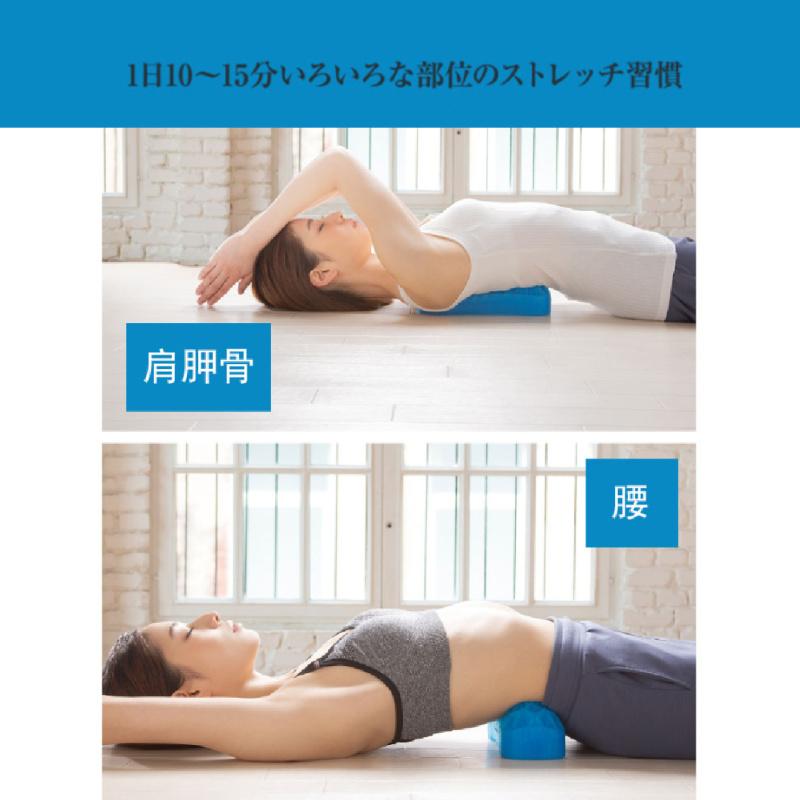 NEEDS LABO 腰頸舒壓矽膠墊 (黑色套藍色墊)