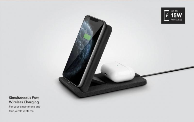 UNIQ VERTEX DUO - Slim Foldable Dual Wireless Charger