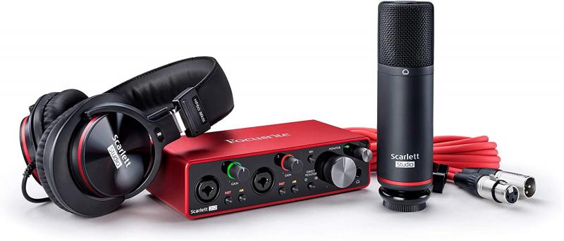Focusrite Scarlett 2i2 Studio Pack (3rd Gen) 第3代 USB 錄音介面 套裝組 (全港免運)