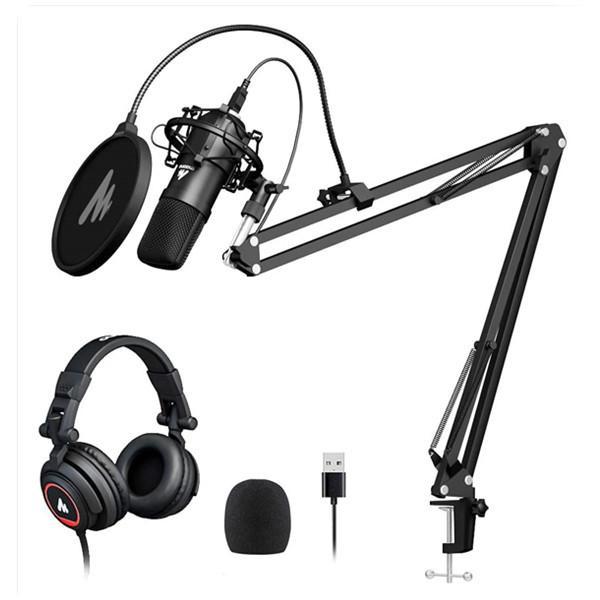 MAONO USB Microphone Set with Studio Headphone Set AU-A04H