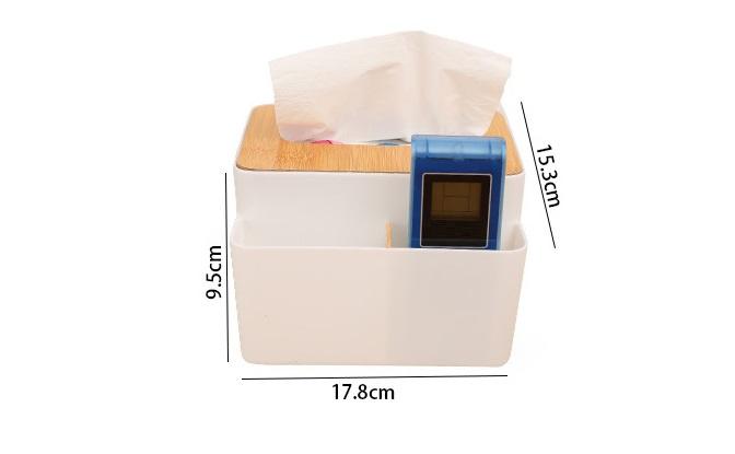 日式竹木遙控器紙巾盒