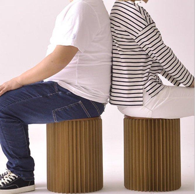 歐州設計風琴式伸縮紙座椅