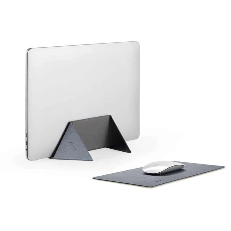Moft Vertica 2-in-1 Laptop Stand & Mouse Pad(Grey)
