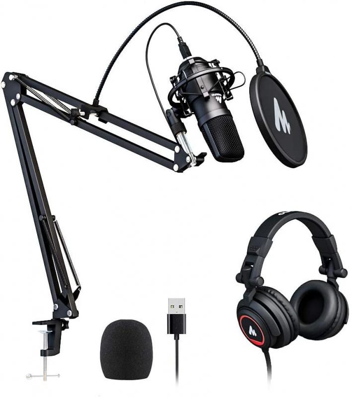 Maono AU-A04H 錄音室電容麥克風連監聽耳機套裝組合
