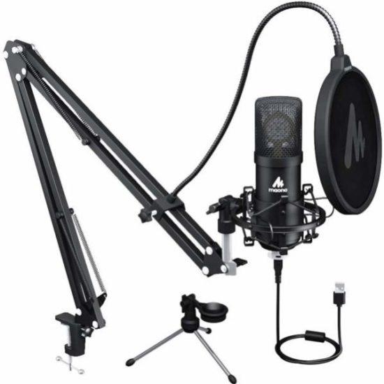 Maono AU-A425 Plus 25mm 大振膜高取樣率專業錄音麥克風連腳架套裝