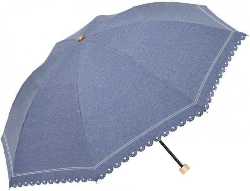 日本Water Front 牛仔布紋防UV隔熱折傘