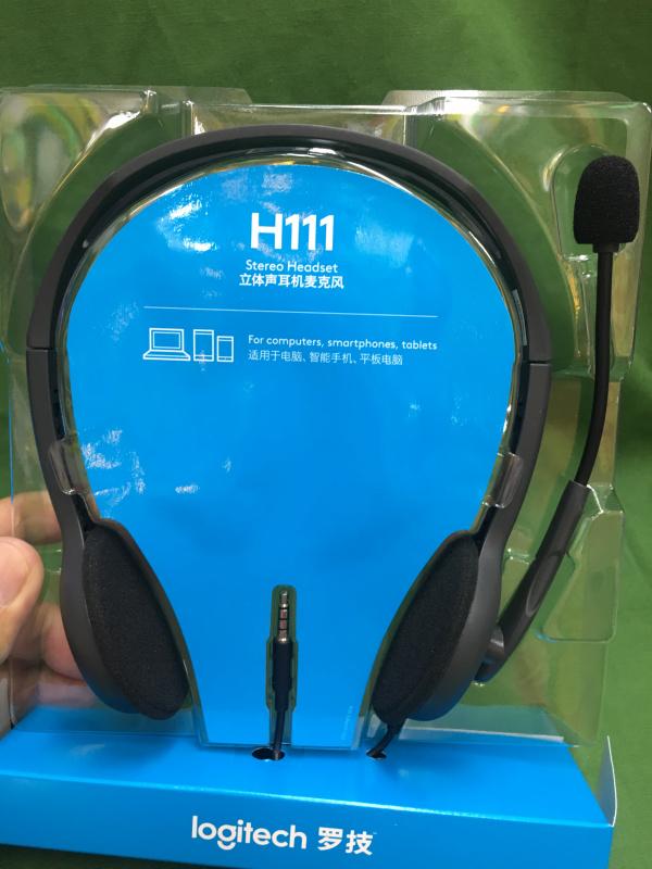 logitech羅技H111/頭載式/電腦耳機連咪/可調節大小/旋轉收音咪(可放左/右)/令網上學習更專注