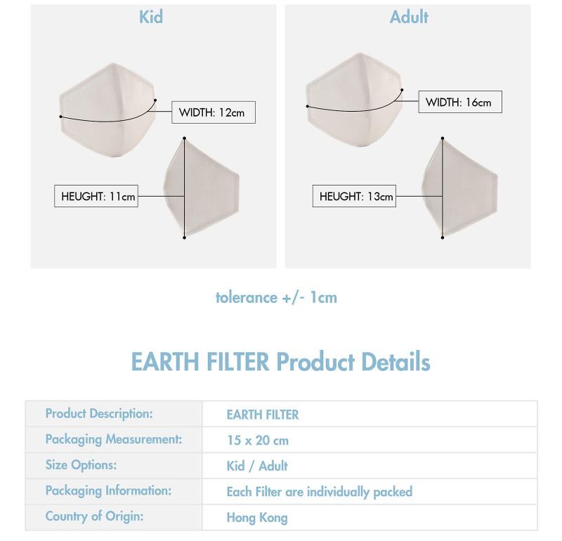 [香港製造] Re-Mask | VFE99.9% 可重用立體剪裁濾芯套裝 (10片)