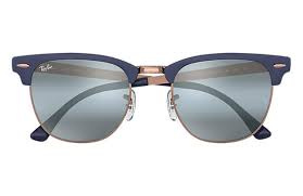 Ray-Ban RB3716 9160AJ Clubmaster Metal 太陽眼鏡   深藍色鏡框及藍色水銀漸變鏡片
