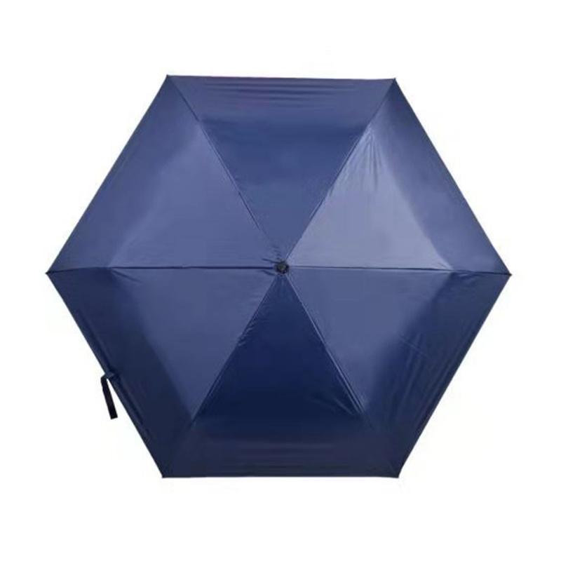遮光系列碳纖維六骨快乾傘 - 深藍
