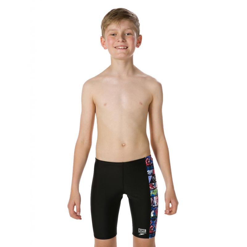 少年復仇者聯盟五分泳褲 - 黑