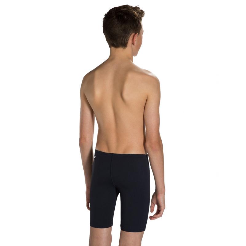 少年基礎訓練五分泳褲 - 黑