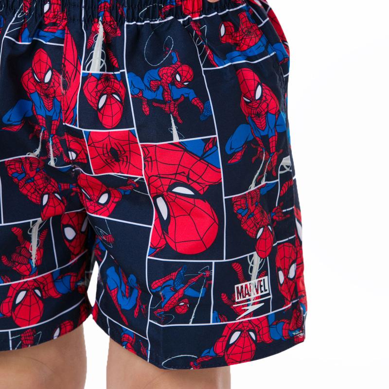 兒童蜘蛛俠沙灘褲 - 深藍/紅