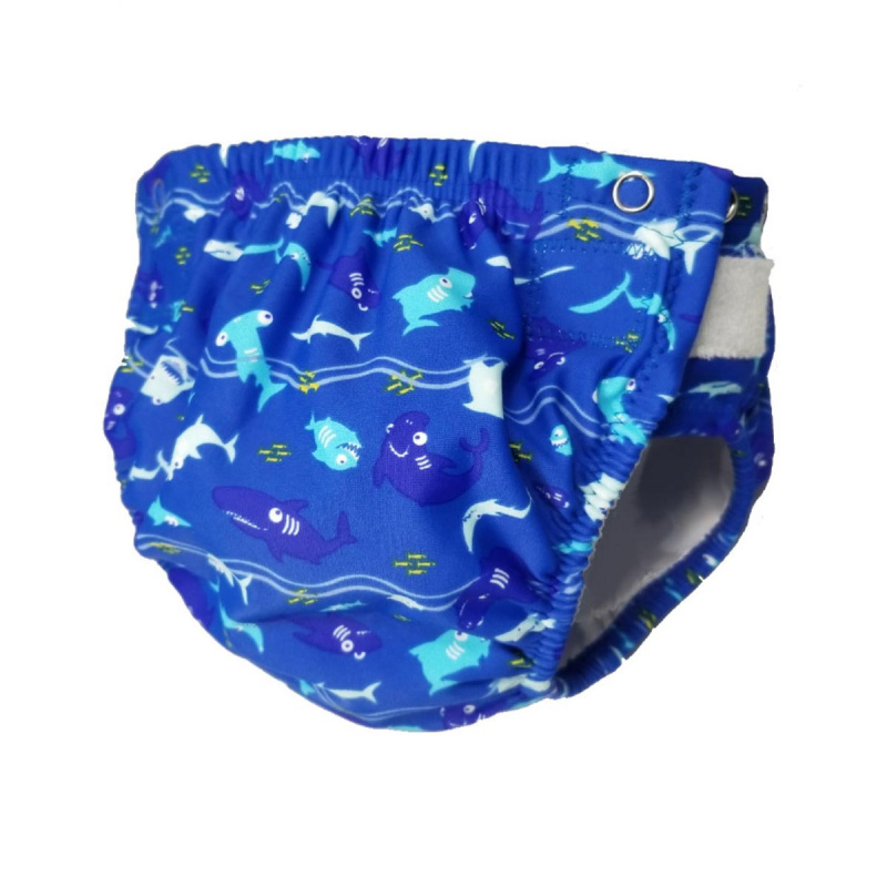 幼童可調節游泳尿布 - 藍