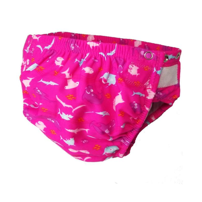 幼童可調節游泳尿布 - 粉紅