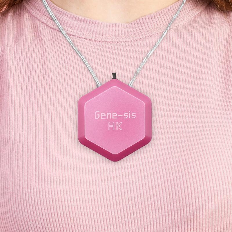 香港製造 Gene-sis 掛頸負離子空氣清新機 S2 - 糖果粉紅