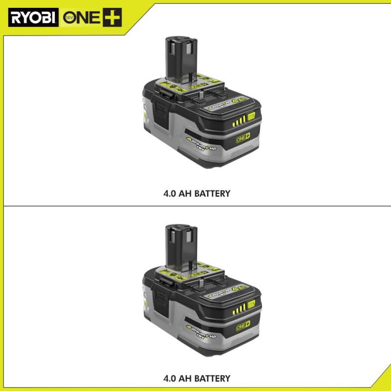 ryobi18VONE +鋰離子4.0 Ah鋰電池+ HP大容量電池