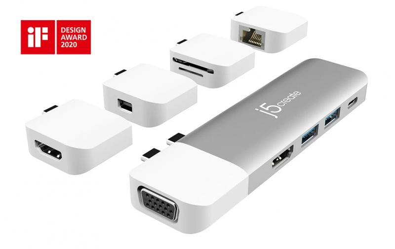 J5create USB-C Multi-Display Modular Dock JCD389
