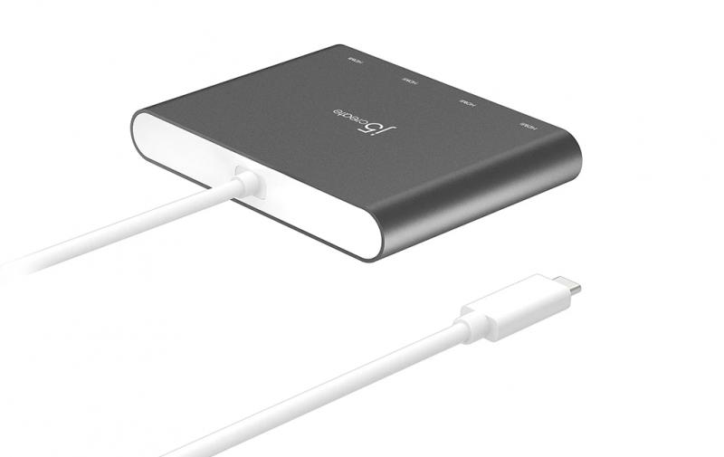 J5create USB-C to 4-Port HDMI 多螢幕外接顯示卡 JCA366