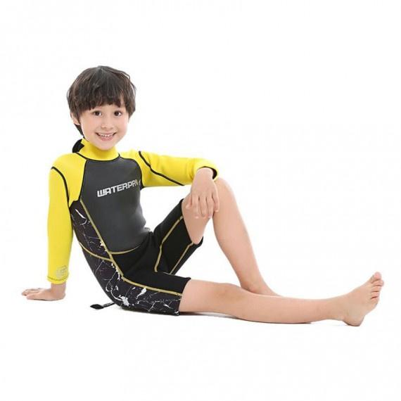 3.0mm 兒童保暖衣 - 黃