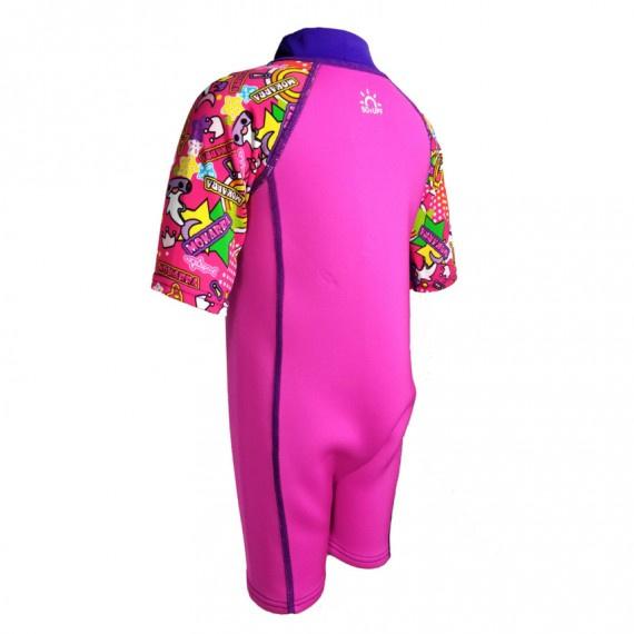 1.0mm 兒童鯨脂橡膠保暖衣 - 粉紅