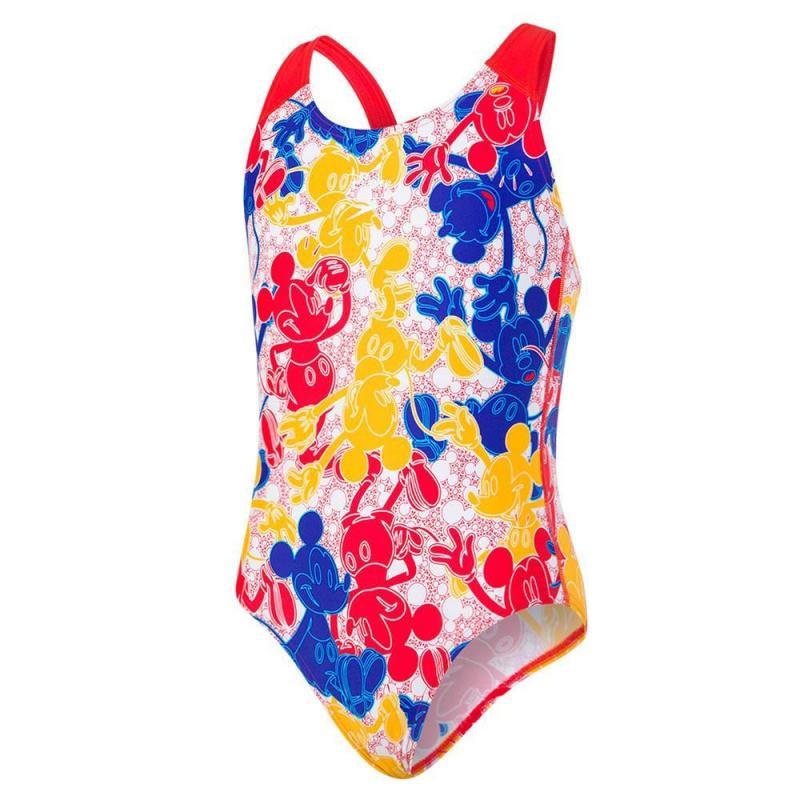 少女米奇老鼠連身泳衣 - 藍/紅