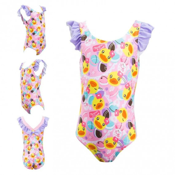 女童 B. Duck 泳衣 - 粉紅/紫