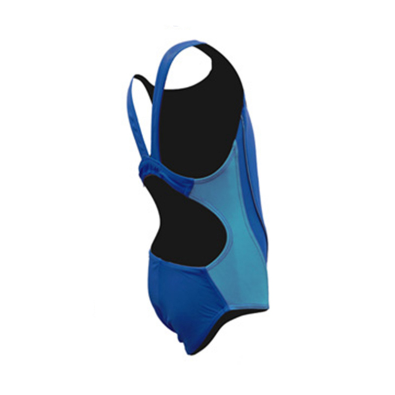 女童連身泳衣 - 藍/淺藍