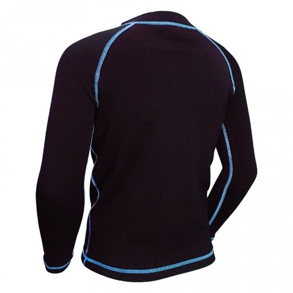 1.2mm 兒童抓毛保暖上衣 (七分袖) - 藍