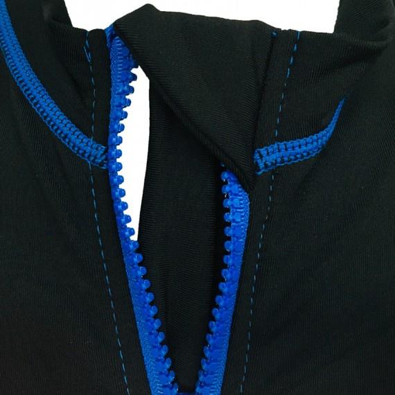 1.2mm 兒童抓毛保暖夾克 - 黑/藍
