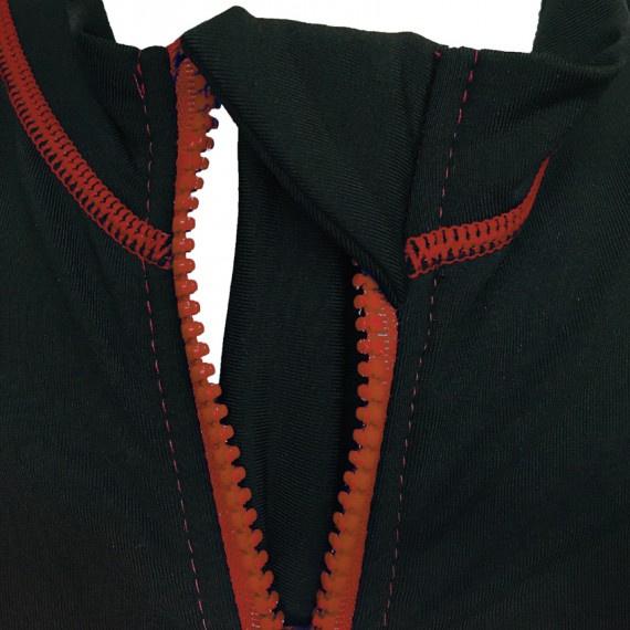 1.2mm 兒童抓毛保暖夾克 - 黑/橙
