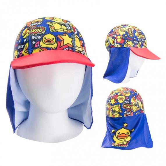 兒童 B.Duck 防囇帽 - 紅/藍