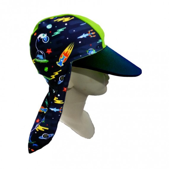 少年防曬帽 (6-14歲) - 深藍