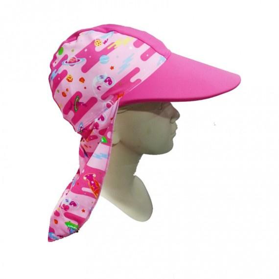 少年防曬帽 (6-14歲) - 粉紅